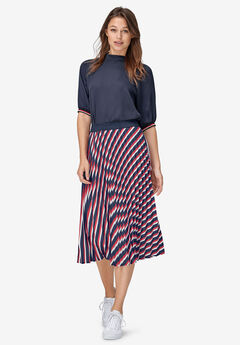 Pleated Midi Skirt,