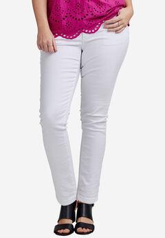 Slim 5-pocket Jeans by ellos®, WHITE