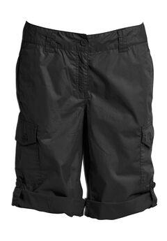 Convertible Cargo Shorts by ellos®, BLACK, hi-res