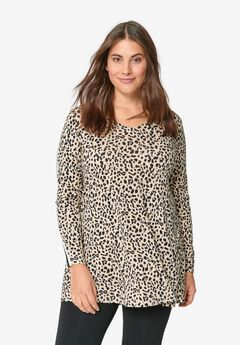 Side-Stripe Tunic by ellos®, LEOPARD PRINT