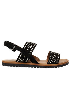 Studded Suede Sandals by ellos®, BLACK, hi-res