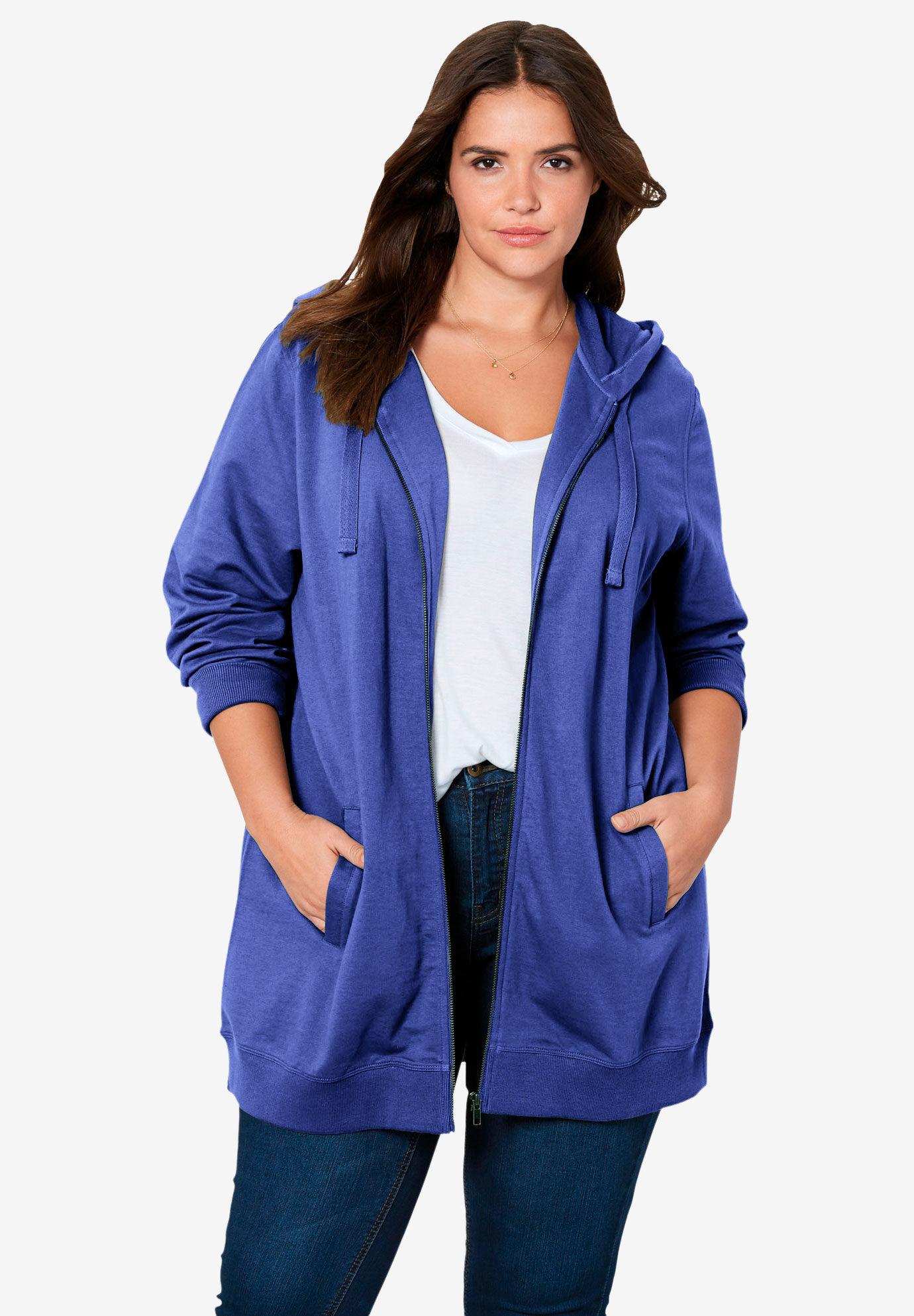 NEW Plus Size Utility Jacket Soft High Quality Hoodie L//XL//1X-2X-3X