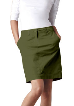 Chino Skort by ellos®, DARK BASIL, hi-res