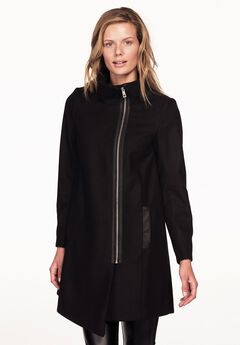 Asymmetrical Zip Coat by ellos®,