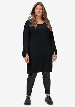 Tie-Back Sweater Dress by ellos®, BLACK