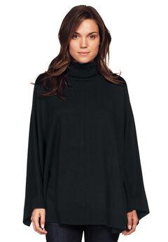 Turtleneck Poncho Sweater by ellos®, BLACK, hi-res