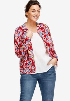 Printed Knit Bomber Jacket by ellos®,