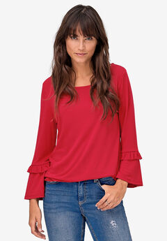 Ruffle Sleeve Top by ellos®,