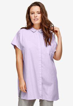 Oversized Linen Blend Tunic by ellos®,