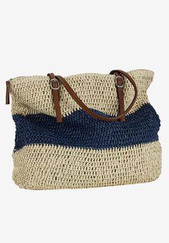 Zip Top Straw Bag by ellos®,