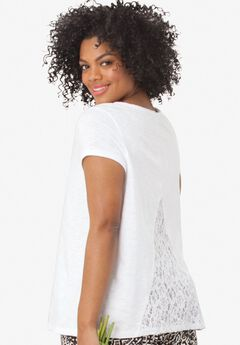 Lace Back Knit Tunic by ellos®,