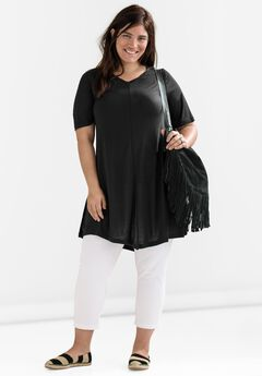 Twisted V-neck Tunic by ellos®,