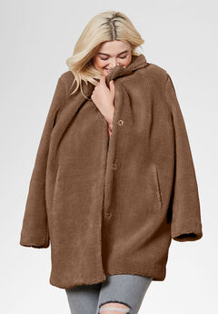 Teddy Faux Fur Coat by ellos®,