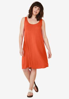 Crossover Back Tank Dress by ellos®,