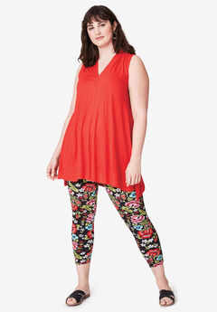 Pull-On Capri Leggings by ellos®,