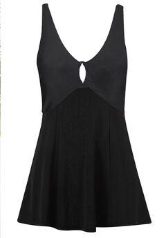 Keyhole Swimdress by ellos®, BLACK, hi-res