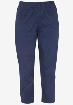 Stretch Twill Capri Leggings by ellos®,