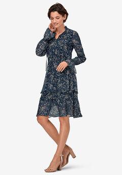 Tiered Elastic Waist Peasant Dress by ellos®,