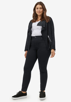 High-Waist Skinny Jeans by Ellos®, BLACK, hi-res