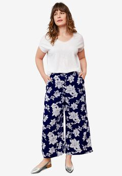 Wide-Leg Crop Pants by ellos®,