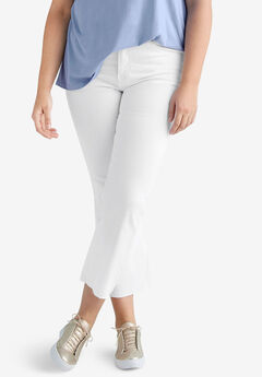 Crop Bootcut Jeans by ellos®, WHITE
