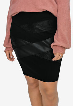 Mixed-Media Ponte Skirt by ellos®,