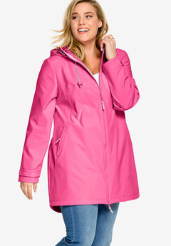 Zip Front Bonded Fleece Jacket by Ellos&reg, ROYAL ROSE, hi-res