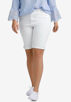 Denim Bermuda Shorts by ellos®, WHITE