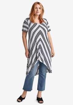 High-Low Stripe Tunic by ellos®,