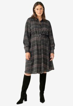 Belted Shirtdress,