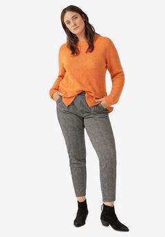 Crop Plaid Knit Pant by ellos®,