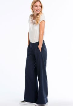 Wide Leg Pants by ellos®, NAVY, hi-res