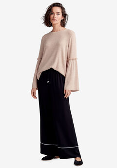 Ruffle-Trim Bell Sleeve Top by ellos®,