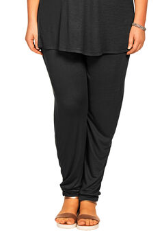 Soft Knit Elastic Waist Pants by ellos®, BLACK, hi-res