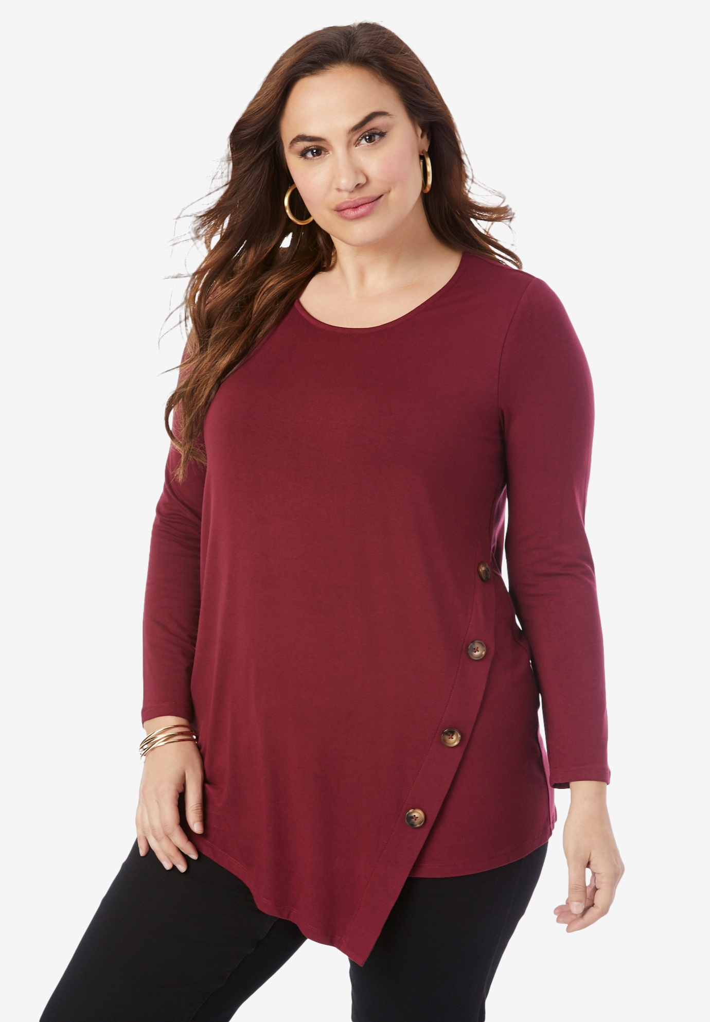 Side-Button Tunic,