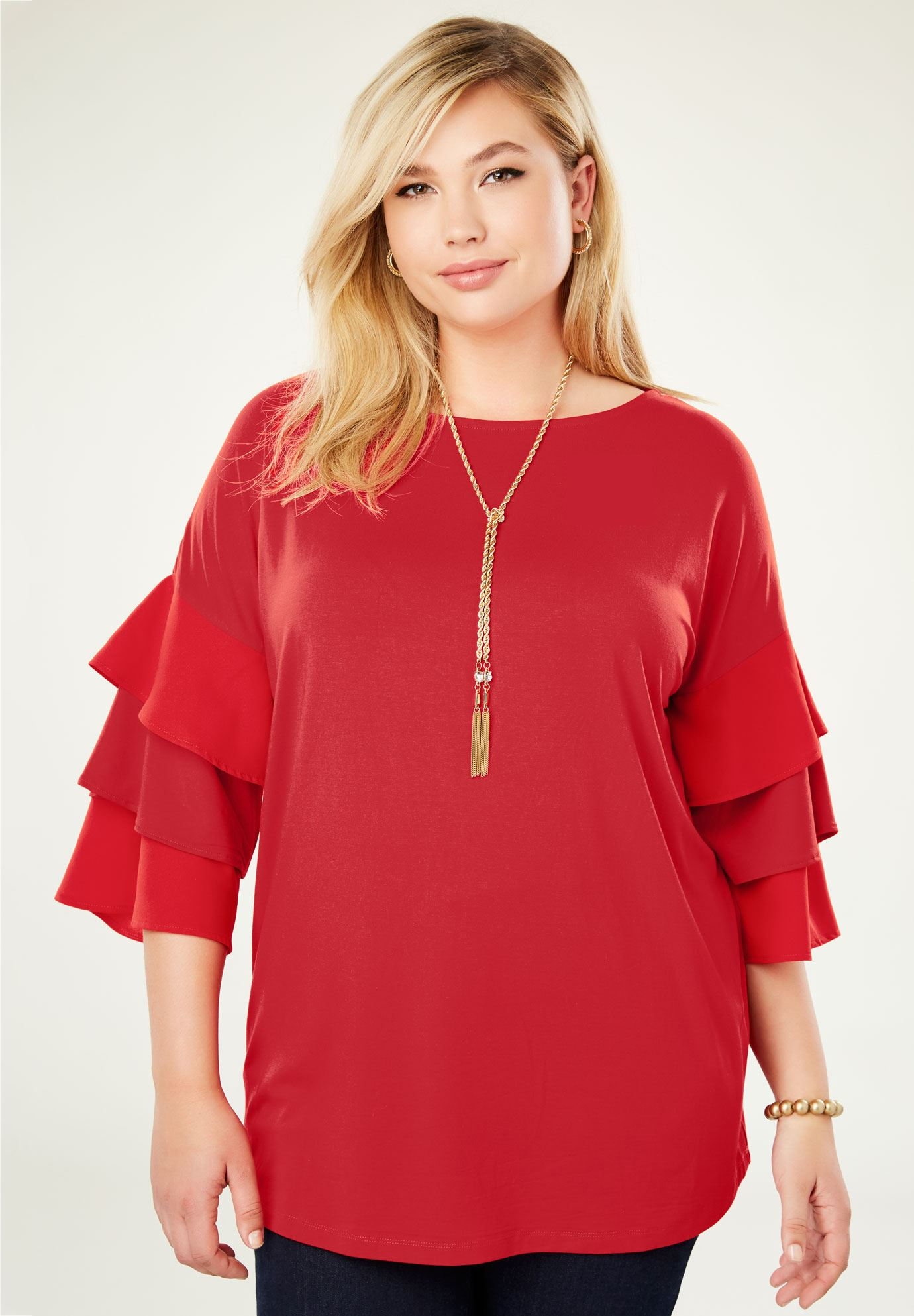 Tiered Bell Sleeve Tunic,