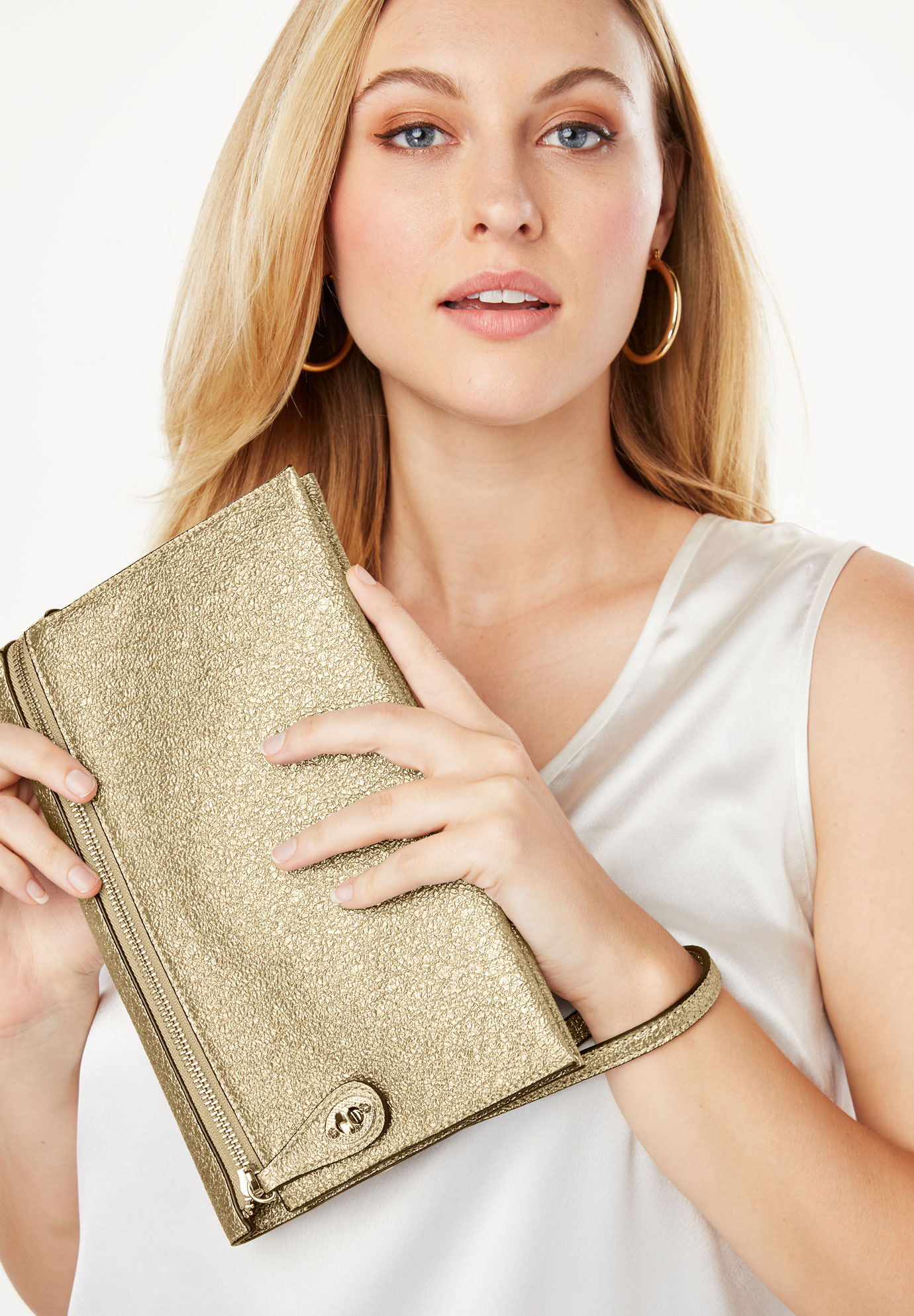 Metallic Wristlet, GOLD