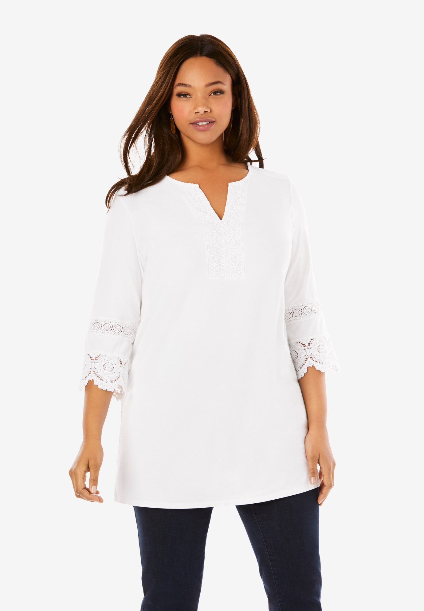 Lace Trim Tunic,