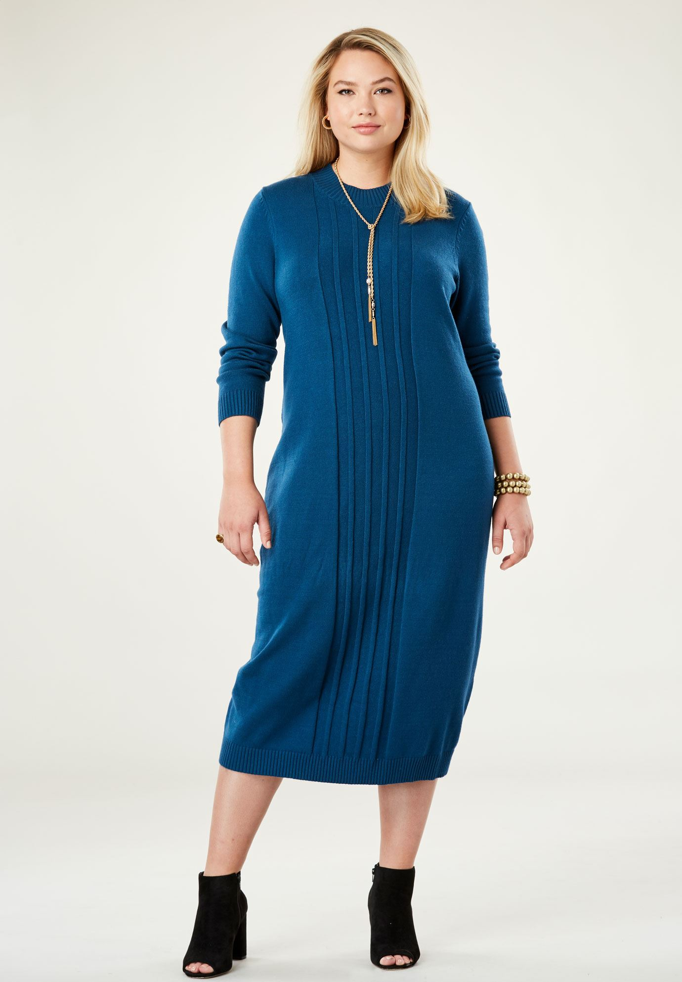 Midi Sweater Dress,