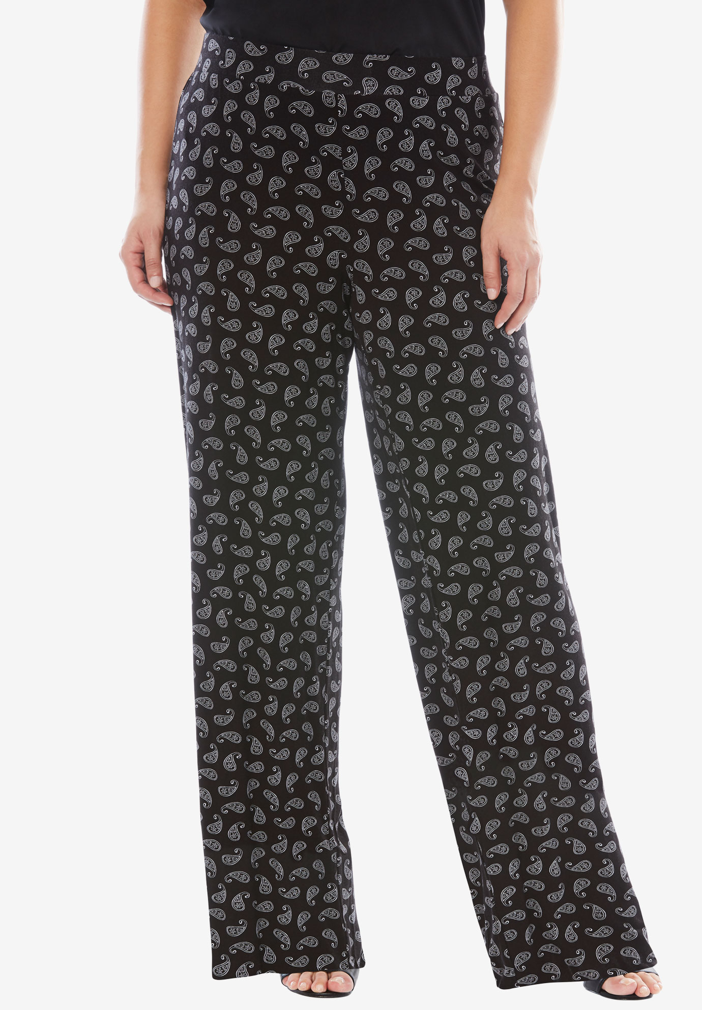 Palazzo Pants, TOSSED PAISLEY, hi-res