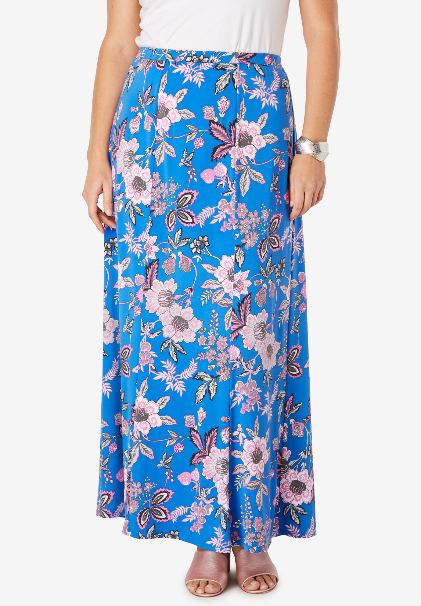 Travel Knit Maxi Skirt,