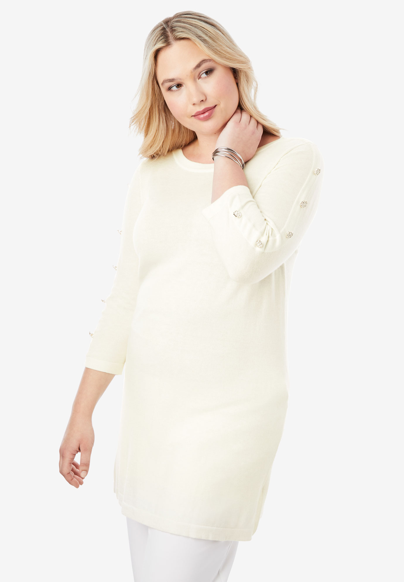 Cotton Cashmere Boatneck Sweater,