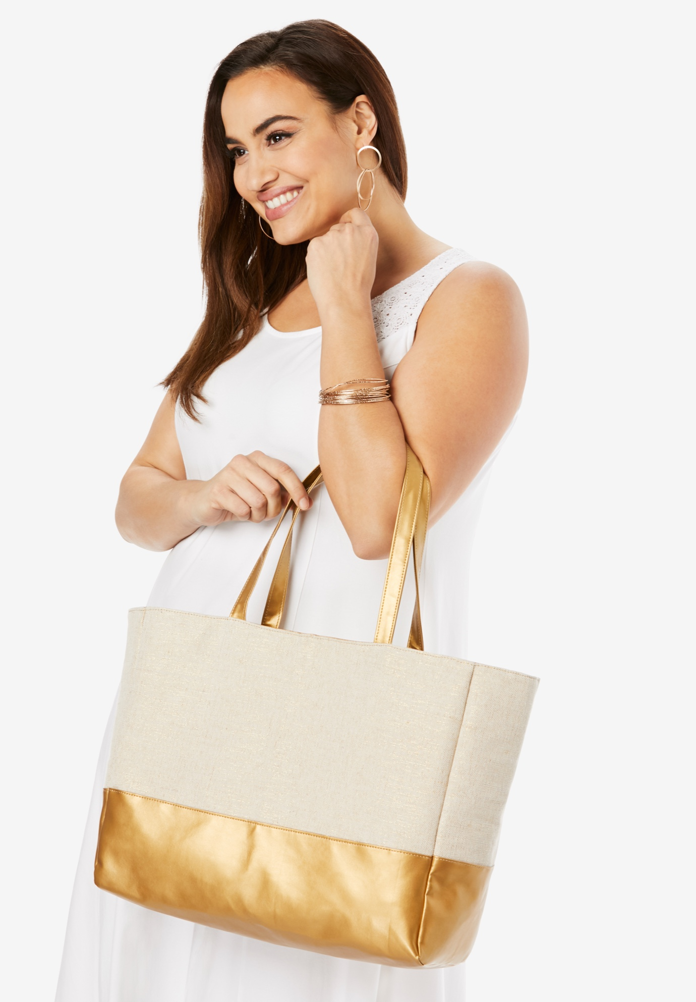 Canvas Tote, NATURAL GOLD