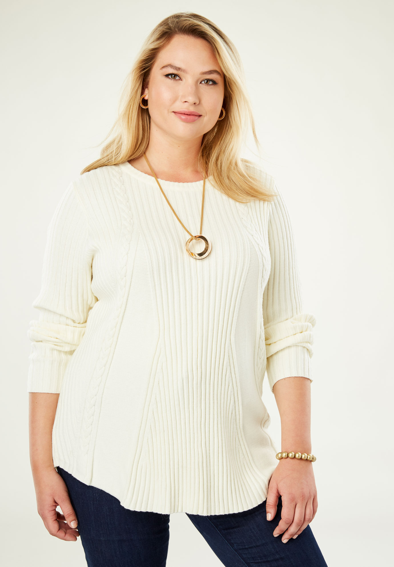 Cable A-Line Sweater,
