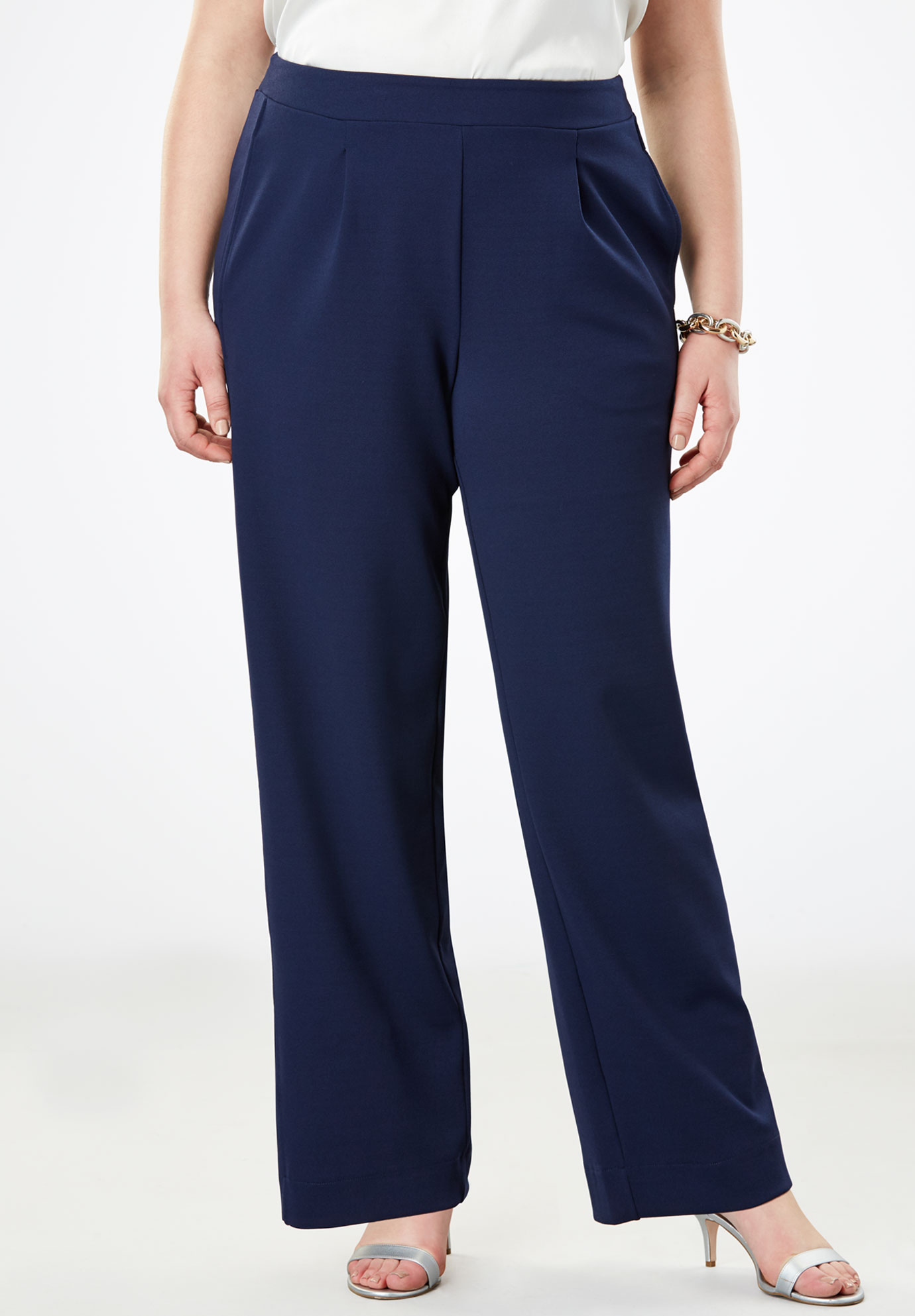 Signature Knit Crepe Trouser,