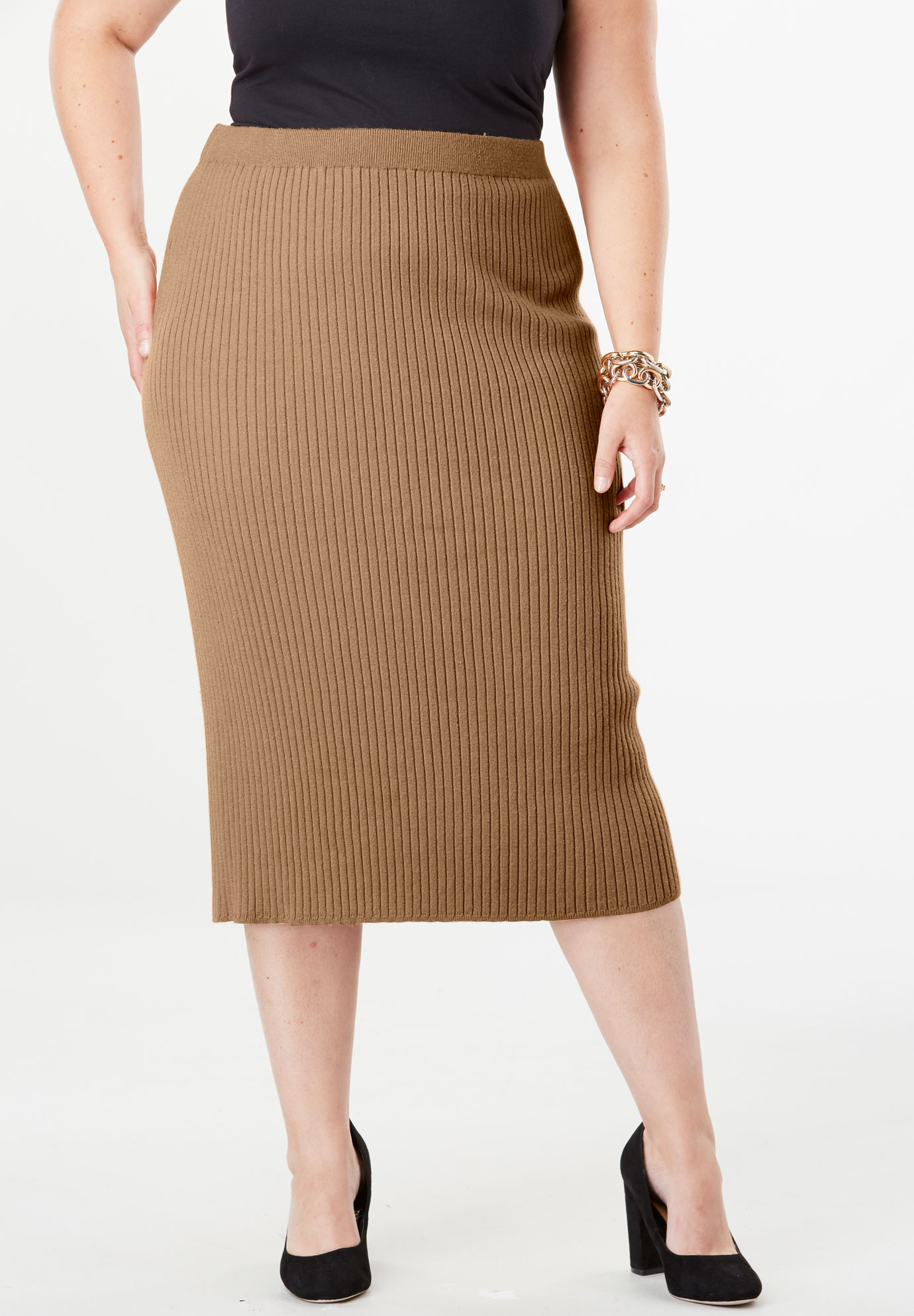 Ribbed Sweater Skirt,