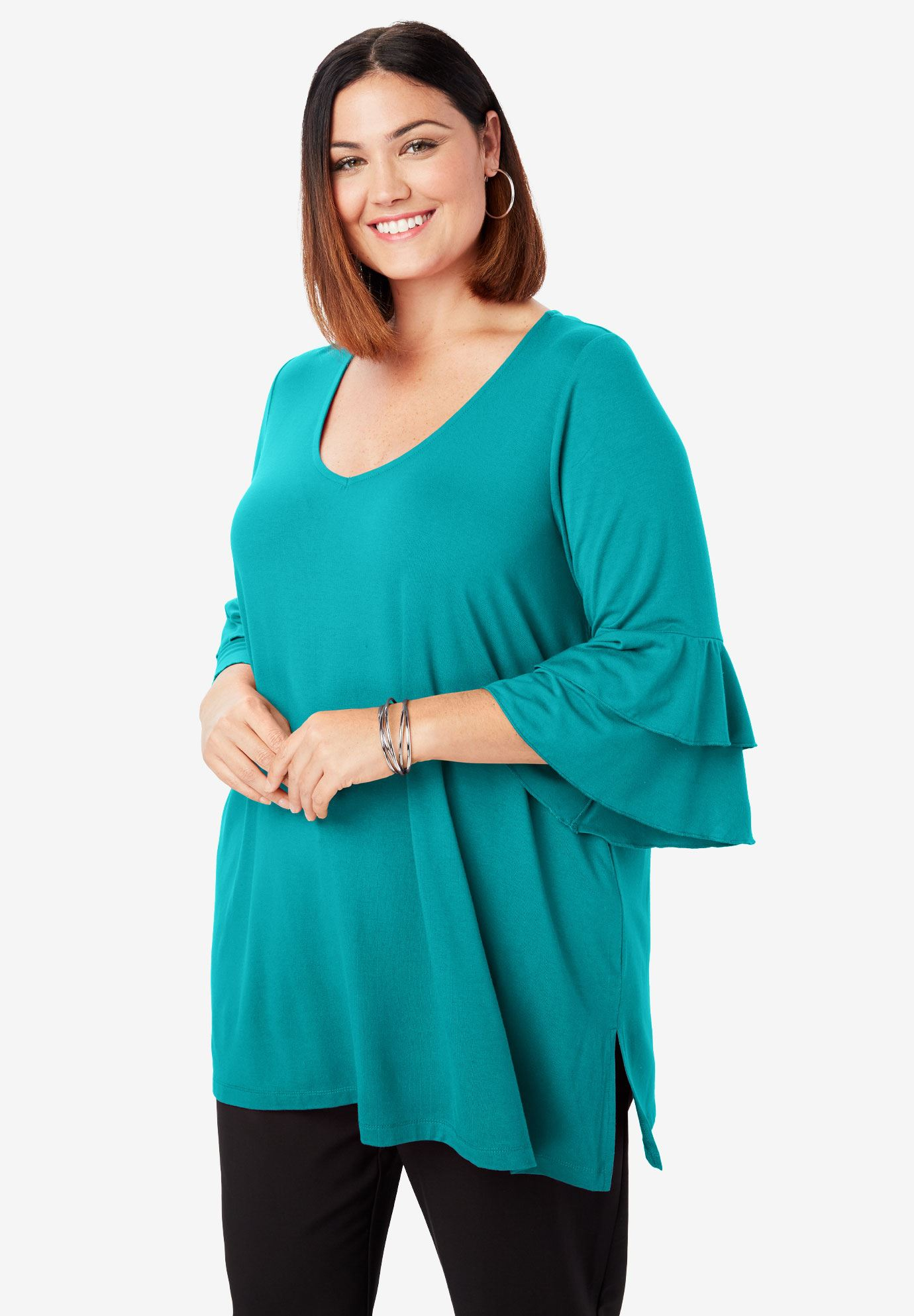 Bell Sleeve Tunic,