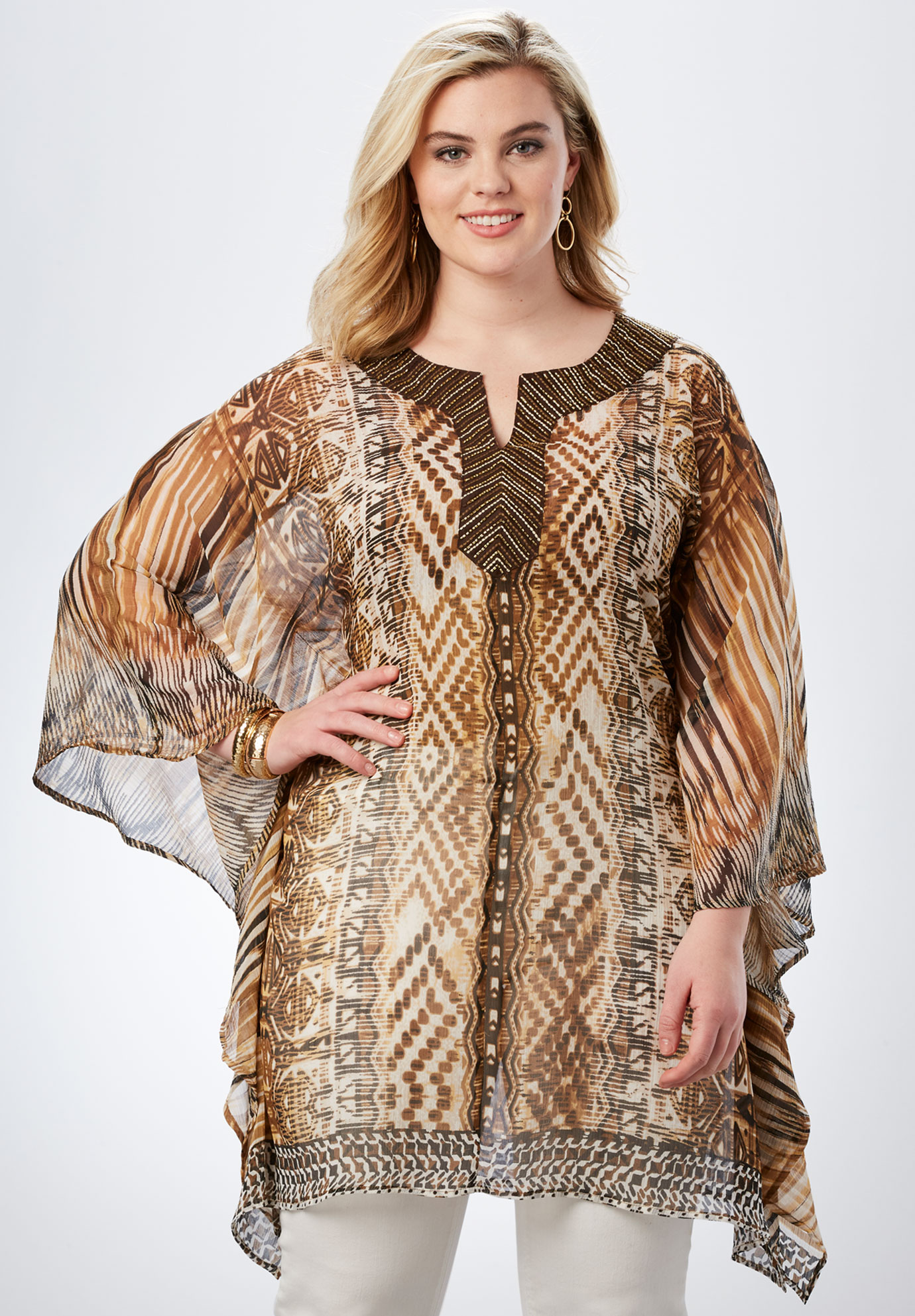 Printed Caftan Super Tunic,