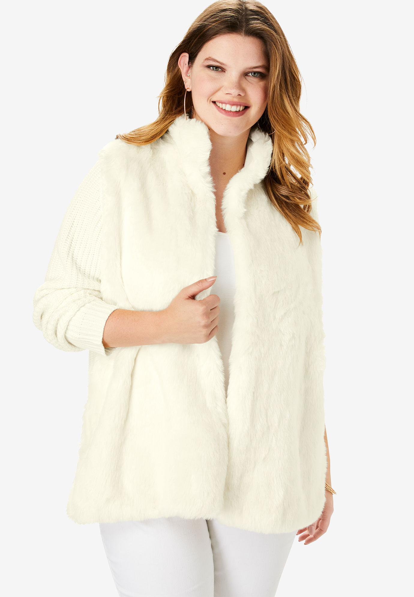 Faux-Fur Cardigan,