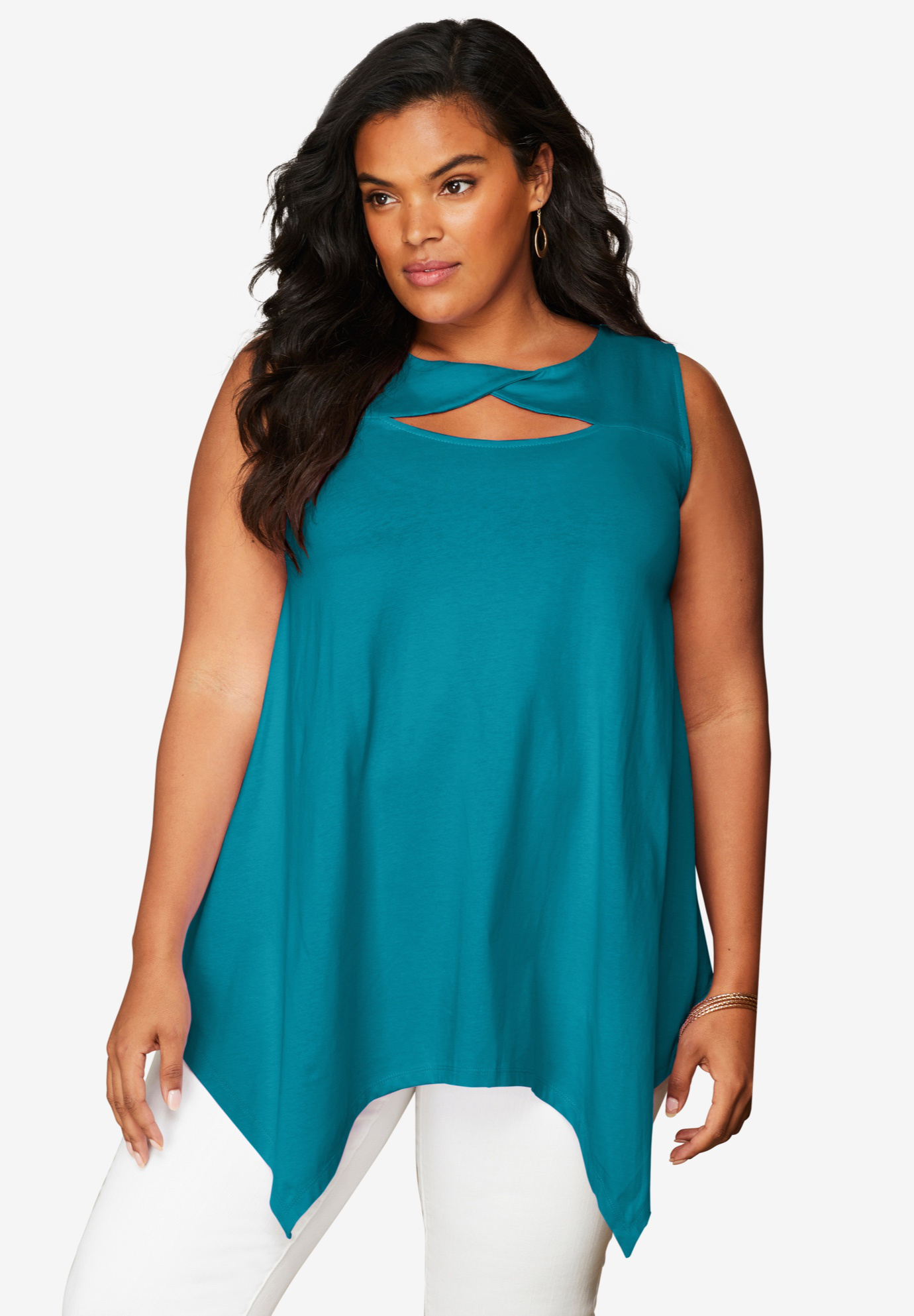 Sleeveless Keyhole Ultimate Tunic,